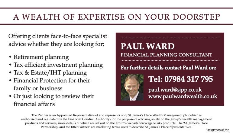 Paul Ward DipPFS - Associate Partner                                                                 St. James's Place Wealth Management -